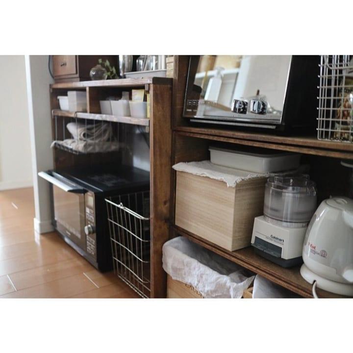キッチンのカウンター下収納実例4