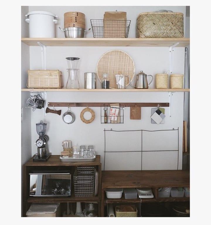キッチンのカウンター下収納実例3