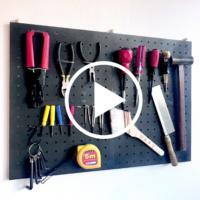 【100均DIY動画】セリアのパンチングボードで工具の壁掛け収納をDIY