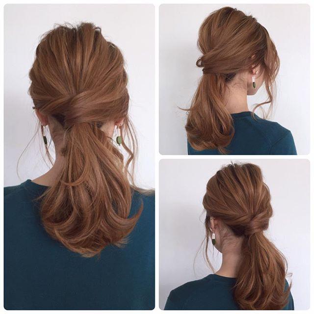 ストレートヘアアレンジ2