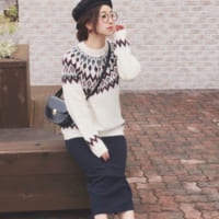 GUのノルディックセーターが大人気!メンズのノルディックセーターを取り入れた大人女子コーデをご紹介♡