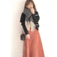 きれい色を取り入れた冬のコーディネート♡暖かみカラーで体温もUP!