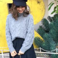 GUのきれい色アイテムで冬コーデをリフレッシュ☆