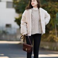 寒い冬にぴったり♪【ユニクロ】スキニーパンツ&ワイドパンツを使った大人女子コーデ♡