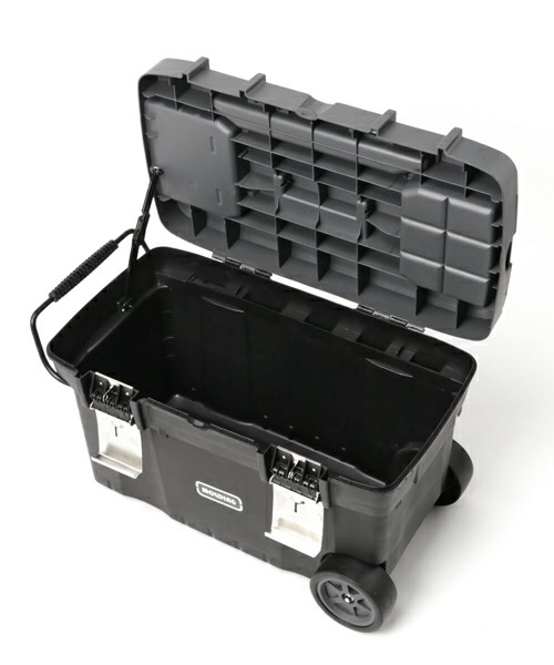 [TIMELESS COMFORT] molding TRUNK BOX CART 67L with Castors.