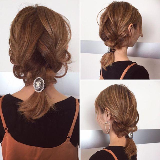 ストレートヘアアレンジ3