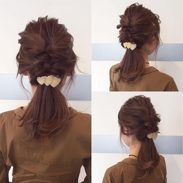 ストレートヘアアレンジ5