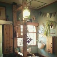 それぞれの場所でカフェ風を目指す☆キッチン、洗面所、トイレ、リビングが魅力的!