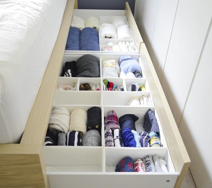 下着・肌着・ハンカチ靴下の収納ボックス