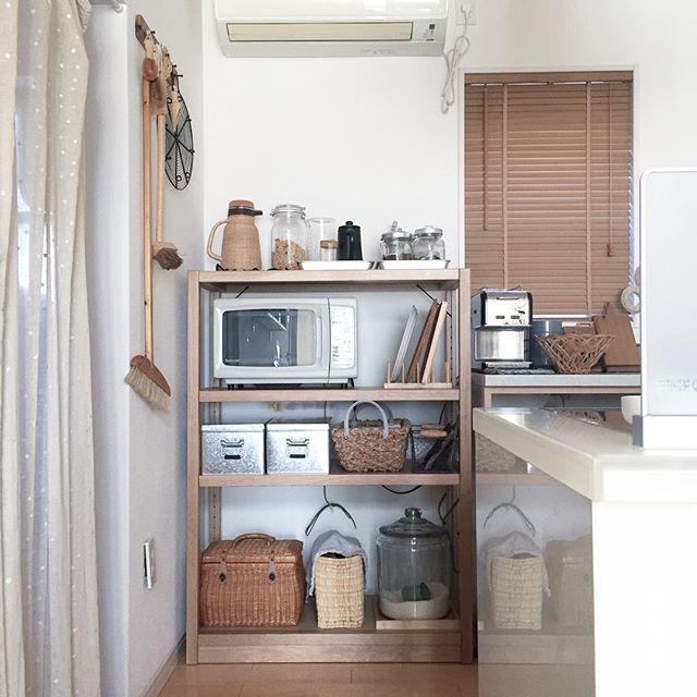 賃貸 壁面 棚収納 無印良品 ユニットシェルフ3