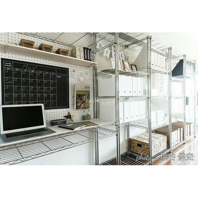賃貸 壁面 棚収納 スチールラック2