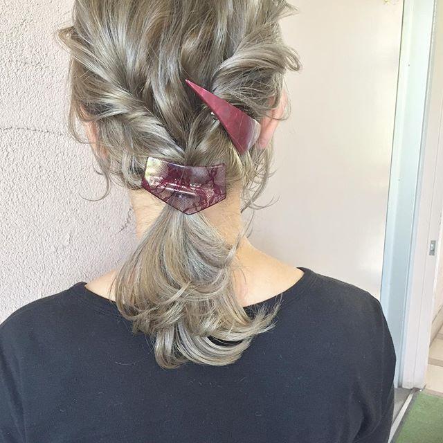 簡単なのにこなれ感たっぷりまとめ髪9