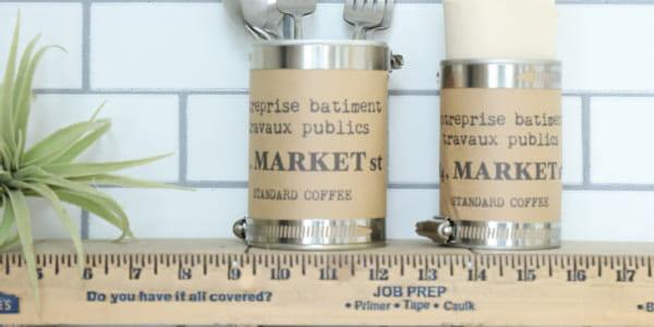 【連載】セリアアイテムでDIY!ホースクランプを使ってカフェ風雑貨を作ろう!