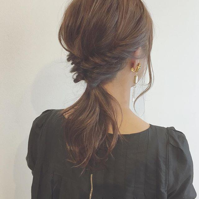 簡単なのにこなれ感たっぷりまとめ髪15