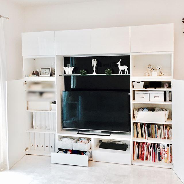 賃貸 壁面 棚収納 IKEA リビングボード