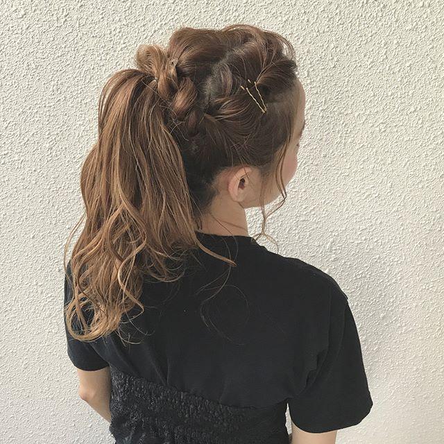 前髪アレンジ8