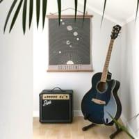 楽器のある趣味空間☆しまわず見せて、おしゃれなディスプレイに