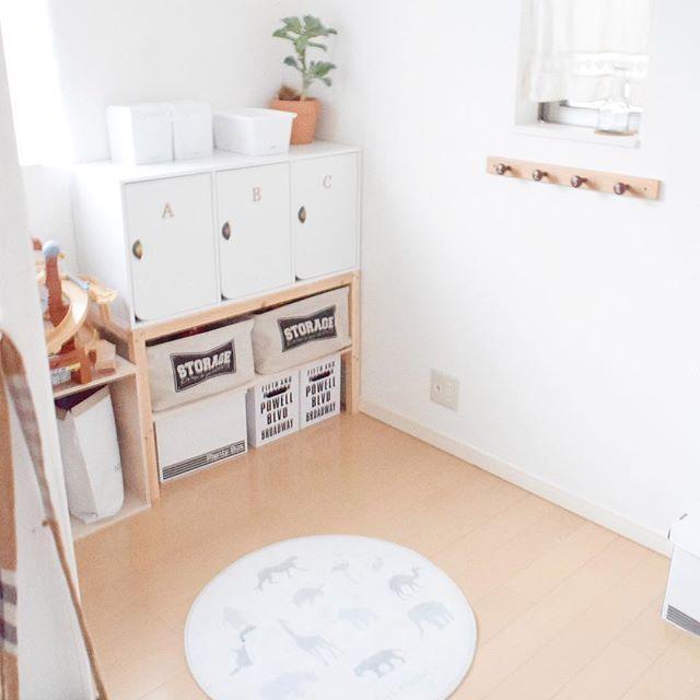 賃貸 壁面 棚収納 ニトリ カラーボックス2