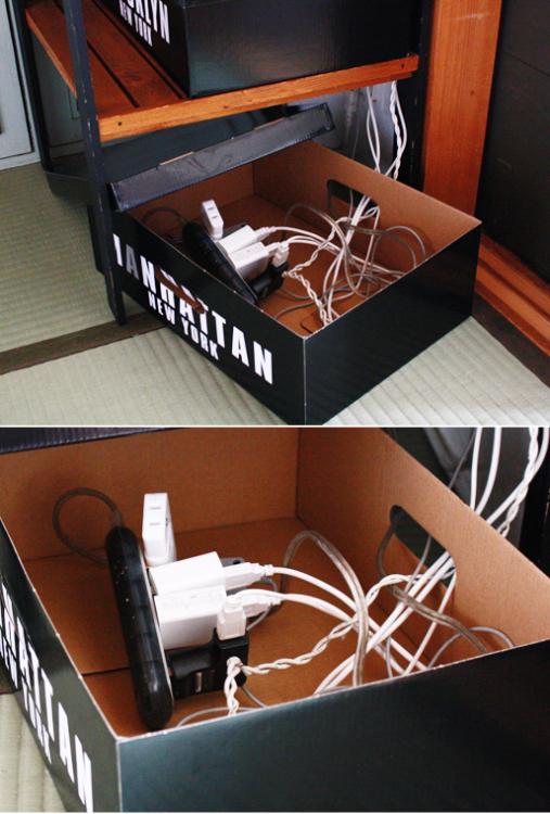 ケーブル収納のアイディア8