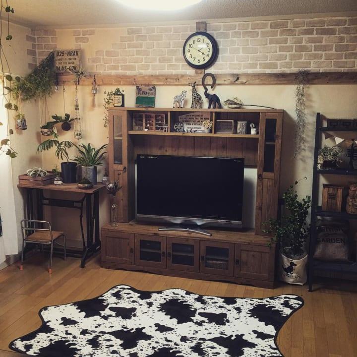 賃貸 壁面 棚収納 テレビボード2