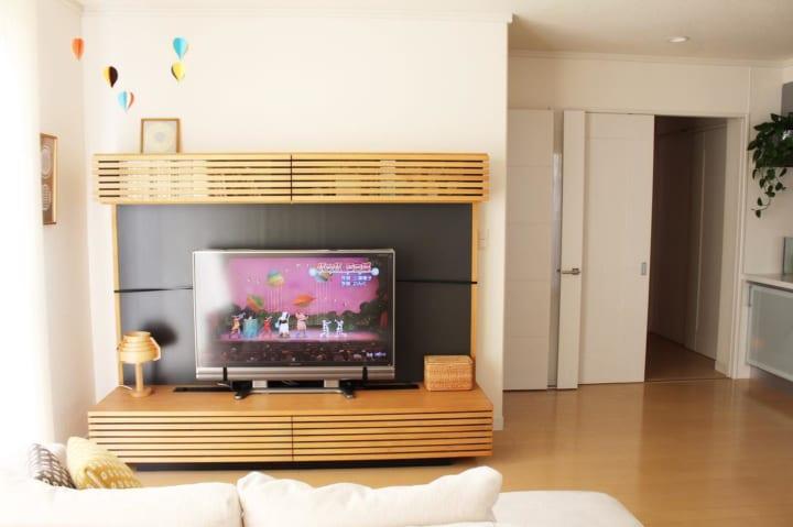 賃貸 壁面 棚収納 テレビボード