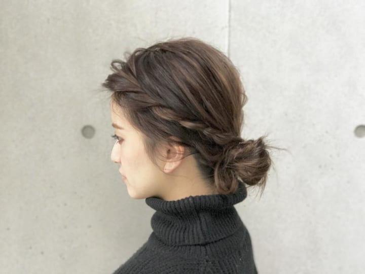 ショートボブ 前髪 編み込み