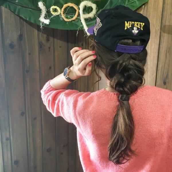 帽子をかぶっている際のヘアアレンジ特集18