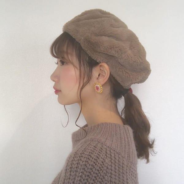 帽子をかぶっている際のヘアアレンジ特集36