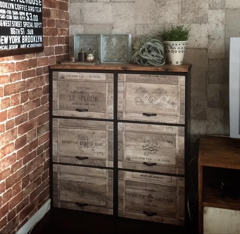 賃貸 壁面 棚収納 DIY カラーボックス2