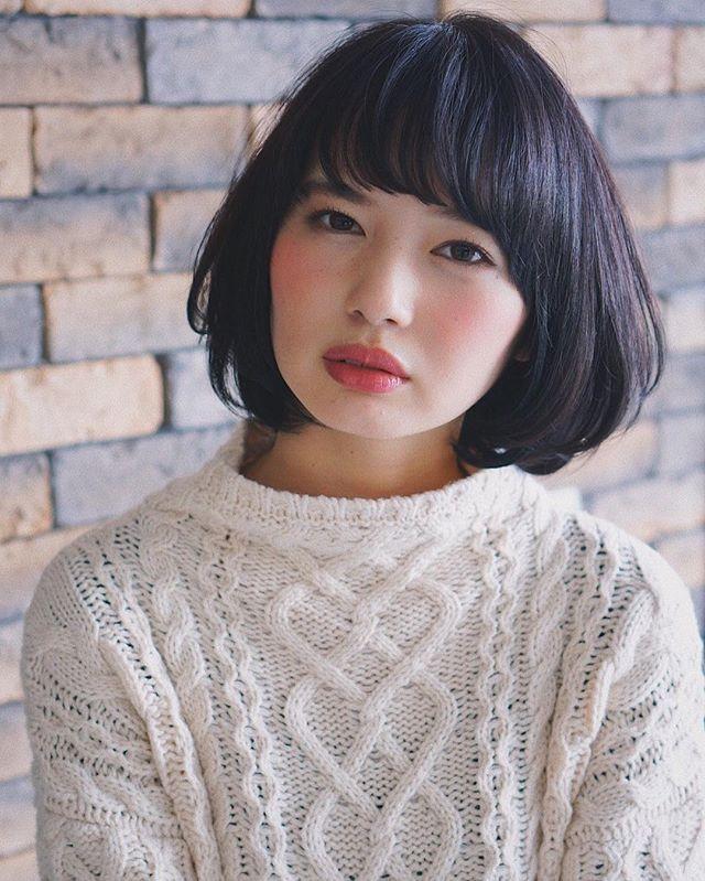 【顔タイプ別】ぱっつん前髪ヘアスタイル10