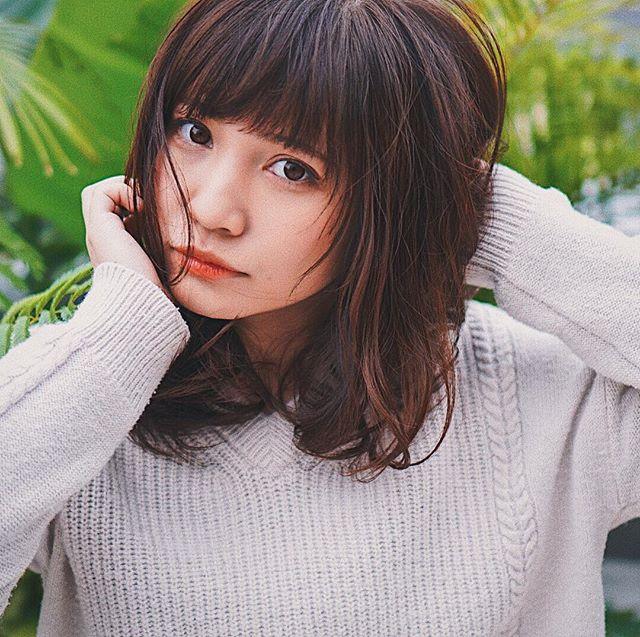 【顔タイプ別】ぱっつん前髪ヘアスタイル12