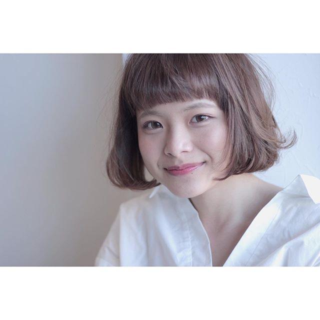 【顔タイプ別】ぱっつん前髪ヘアスタイル11