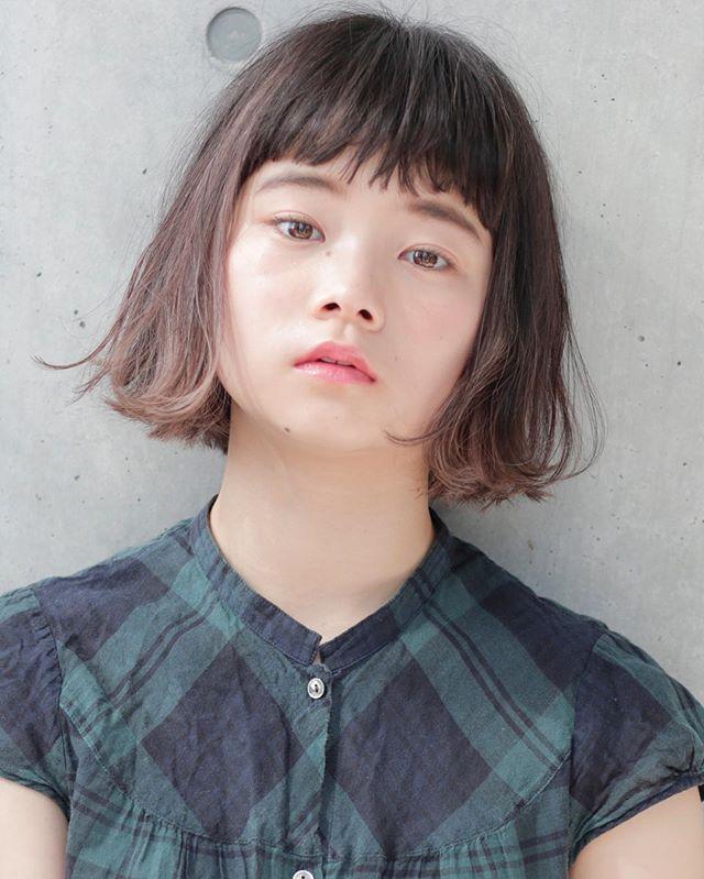 【顔タ8イプ別】ぱっつん前髪ヘアスタイル