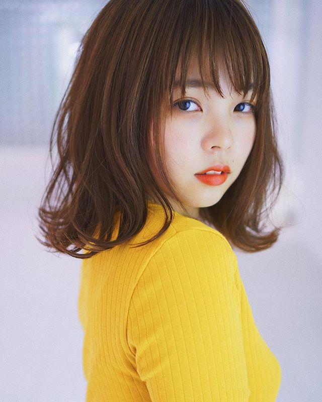 【顔タイプ別】ぱっつん前髪ヘアスタイル9