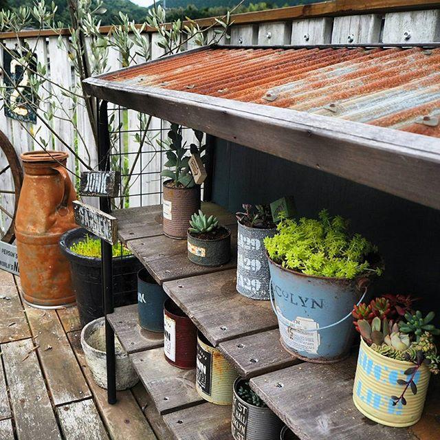 簡単DIYで手軽に屋外収納スペース2