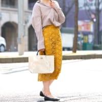 春に着たい♪オンオフ使える「レースタイトスカート」コーデ15選