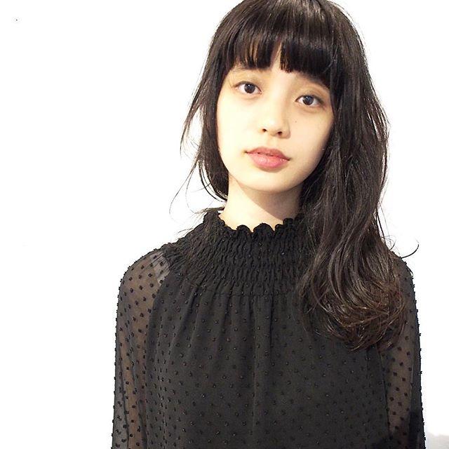 【顔タイプ別】ぱっつん前髪ヘアスタイル2