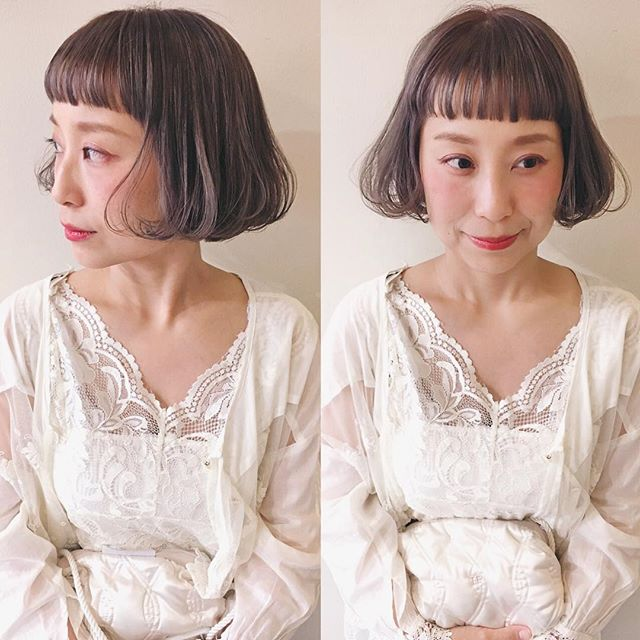【顔タイプ別】ぱっつん前髪ヘアスタイル6