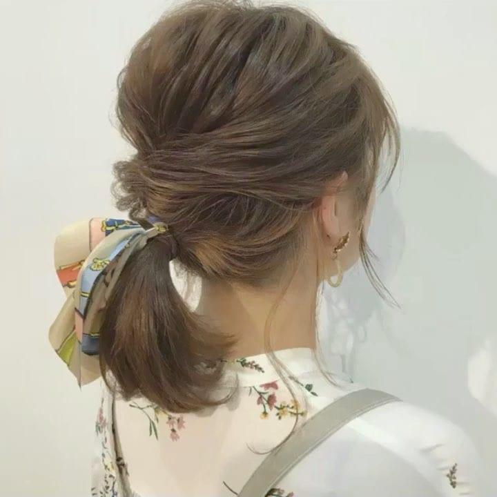 簡単なのにこなれ感たっぷりまとめ髪16