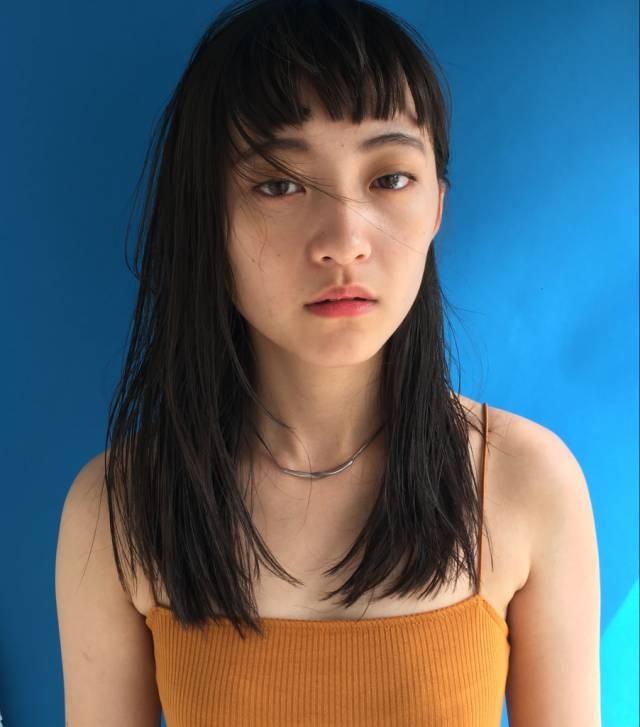 ぱっつん前髪のシースルーバング7