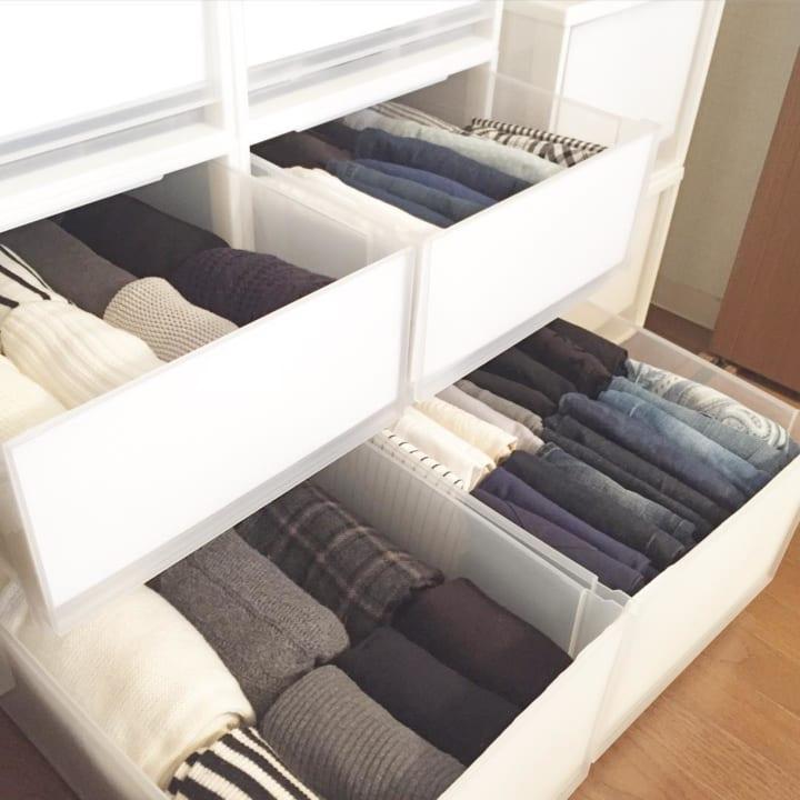 「衣類収納」に役立つアイテム&収納術!8