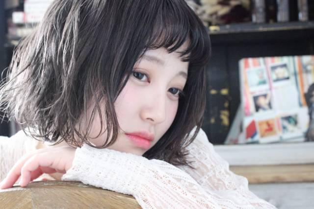 ぱっつん前髪のシースルーバング3