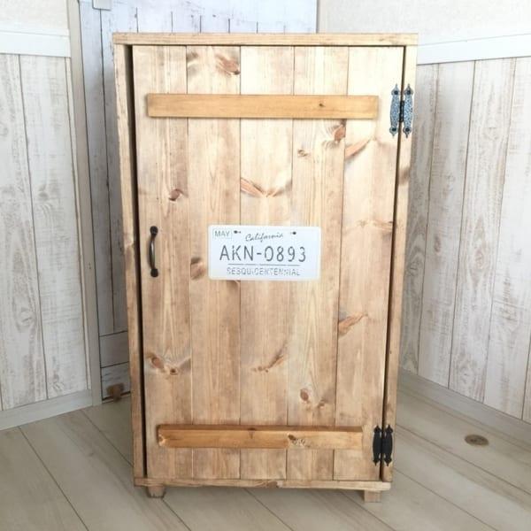 屋外収納の便利アイテムをDIY7