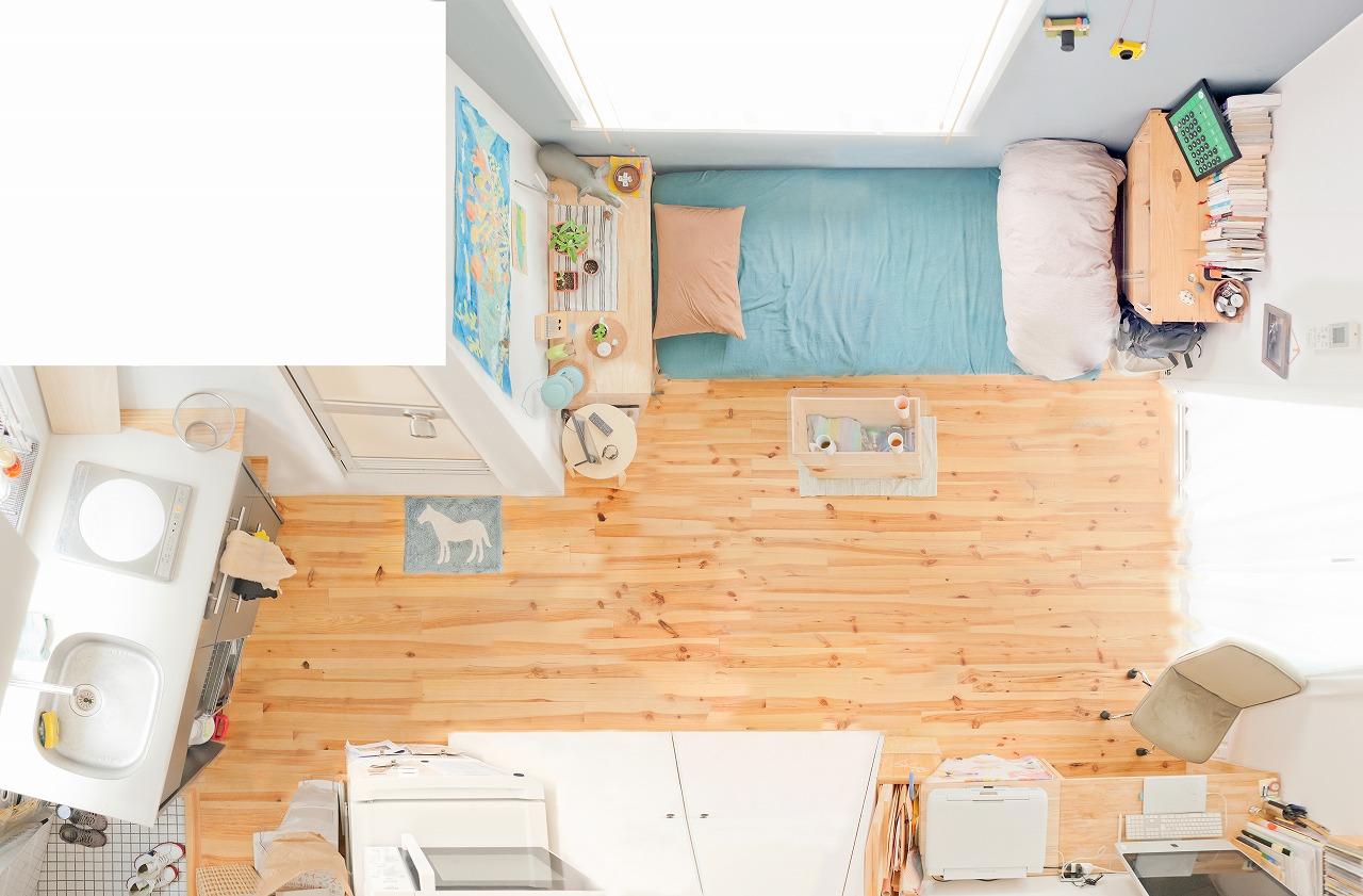 部屋が縦長の例4