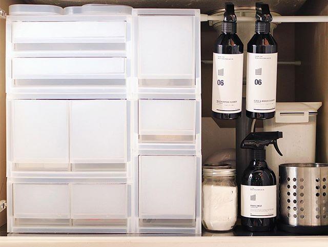 収納ボックスを棚にする1