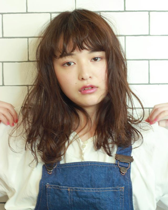 髪型別おすすめパーマスタイル③ミディアム