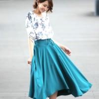 ロングスカートでスタイルアップが叶う☆シルエットを制してスタイル美人に!