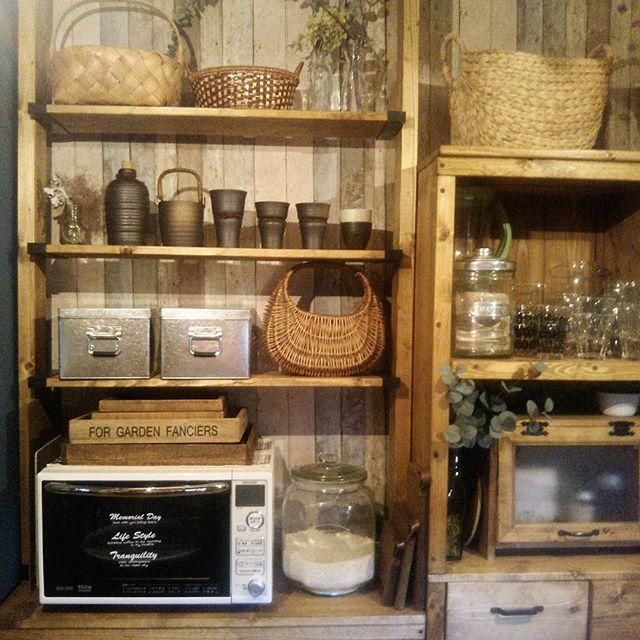 ラブリコを使ったDIYアイデア集 キッチン収納棚