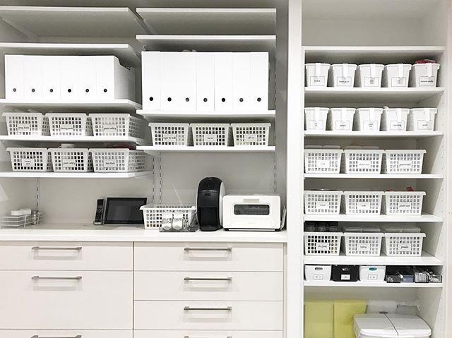 クローゼット、棚のかご収納アイデア2