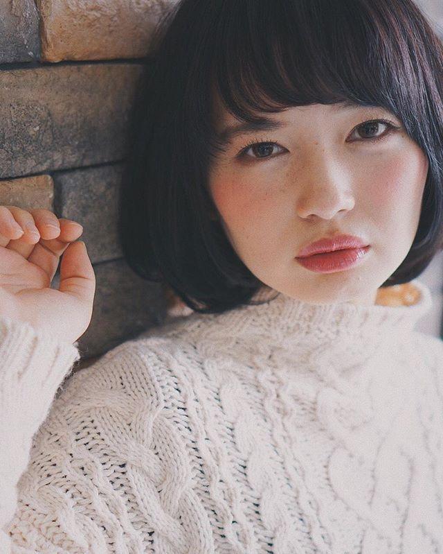ぱっつんボブ 黒髪3